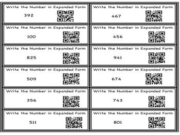 2nd Grade Task Cards- NBT (1-8) Bundle With QR Codes