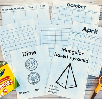 2nd Grade Teacher's Toolkit Printable Math Manipulatives, Templates and Posters