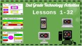 2nd Grade ELA & Math Technology Activities - PowerPoint Slides (Lessons 1-32)