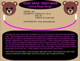 TEDDY BEAR - Jump Rope Song-Instr. Accomp.-ti-ti, ta,-Smartboard