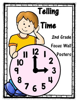 2nd Grade Telling Time Focus Wall Posters