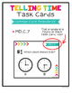 2nd Grade Telling Time Task Cards