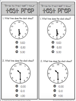 2nd Grade Telling Time Unit