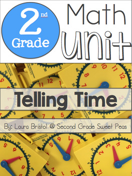 2nd Grade Telling Time Unit {Common Core Aligned}