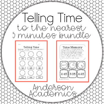 Telling Time to the Nearest 5 Minutes Bundle {2.MD.7}