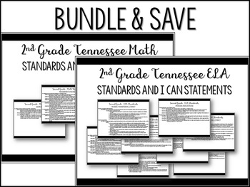 2nd Grade Tennessee All Core Subjects Standards and I Can Statements