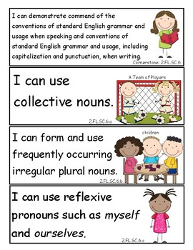 Tennessee 2nd Grade English Language Arts I Can Statements - New Standards 2017!