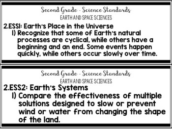 2nd Grade Tennessee Science Standards and I Can Statements