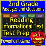 2nd Grade Test Prep Reading Informational Review Game | Distance Learning!