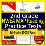 2nd Grade NWEA MAP Primary Reading Test Prep Print and SELF-GRADING GOOGLE FORMS