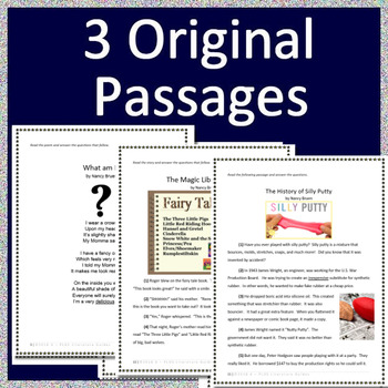 2nd Grade Test Prep Practice Tests  Reading Comprehension Passages and Questions