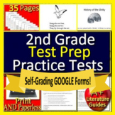 2nd Grade Reading Comprehension Passages & Questions SELF-GRADING TEST PREP!