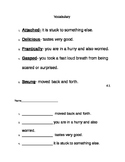 2nd Grade Texas Treasures Vocabulary Handouts and Test Unit 4