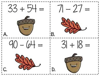 2nd Grade Thanksgiving Math Centers