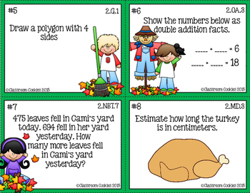 2nd Grade Thanksgiving Math (Common Core Aligned)