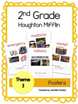 2nd Grade Theme 3 Houghton Mifflin Vocab Posters
