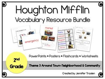 2nd Grade Theme 3 Houghton Mifflin Vocab Resource BUNDLE!