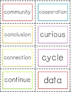 2nd Grade Tier 2 Vocabulary Cards