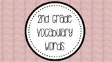2nd Grade Tier 2 Vocabulary Words