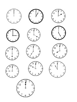 2nd Grade Time - AM/PM Difference