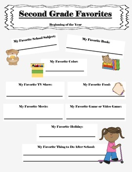 2nd grade time capsule worksheets
