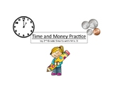 2nd Grade Time and Money Practice