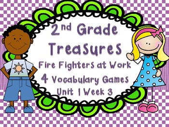 2nd Grade Treasure Unit 1 Week 3 Five Vocabulary Games Fighting the Fire