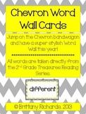 2nd Grade Treasures Chevron Word Wall Word Cards