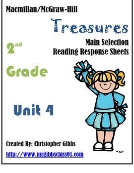 2nd Grade Treasures Main Selection Reader Response Sheets Unit 4
