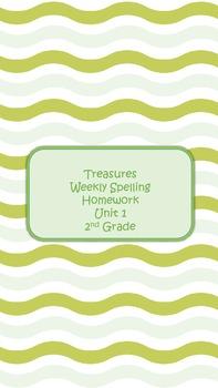 2nd Grade Treasures Spelling Homework Packet - Unit 1