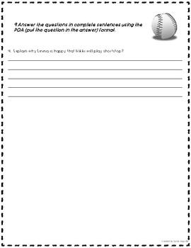 2nd Grade: Treasures: There's Nothing Like Baseball-Common Core Selection Test