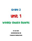 2nd Grade Treasures Unit 1 Choice Board