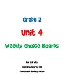 2nd Grade Treasures Unit 4 Choice Board