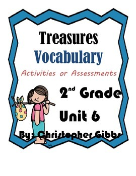 2nd Grade Treasures Vocabulary Activities and Assessments
