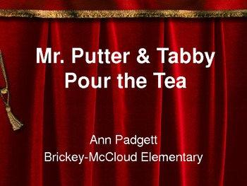 2nd Grade Treasures Vocabulary Powerpoint for Mr. Putter & Tabby Pour the Tea