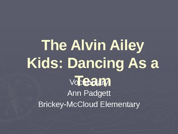 2nd Grade Treasures Vocabulary Powerpoint for The Alvin Ailey Kids