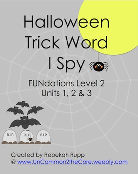 2nd Grade Trick Word I Spy (Halloween)