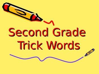 2nd Grade Trick Words