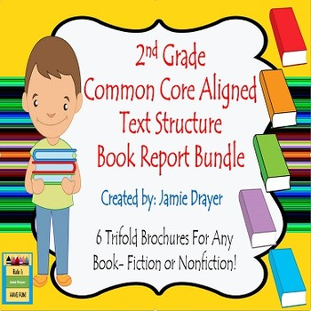 2nd Grade Trifold Brochure Bundle: Fiction, Nonfiction & Biography/Autobiography