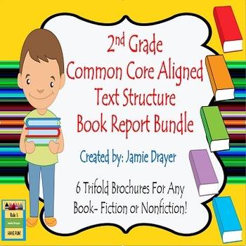 2nd Grade Trifold Brochure Bundle: Fiction, Nonfiction & B