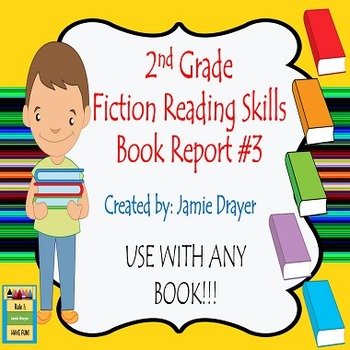 2nd Grade Fiction Book Report Trifold  Brochure 3