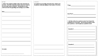 2nd Grade Fiction Book Report Trifold Brochure 1