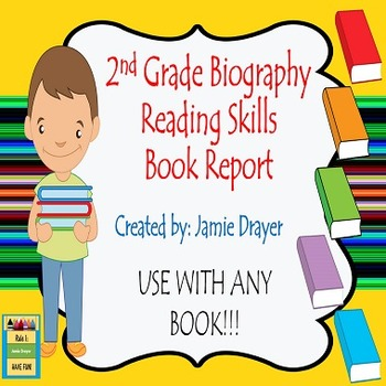 2nd Grade Biography Book Report Trifold Brochure