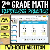2nd Grade Two Digit Addition Google Classroom Distance Lea