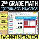 2nd Grade Two Digit Subtraction Google Classroom Distance