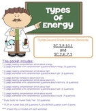 2nd Grade Types of Energy Reading Comprehension Pack