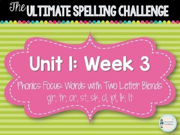 2nd Grade Ultimate Spelling Challenge Center Activity: Reading Wonders UNIT 1