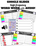 2nd Grade Unit 1 Journeys High Frequency Digital Word Work Practice with Audio