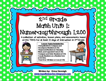 2nd Grade Unit 1 Numeracy Activities and Assessments-TEKS Based