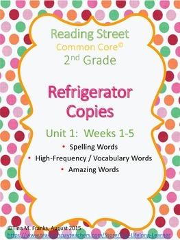 2nd Grade, Unit 1 Reading Street Refrigerator Copy